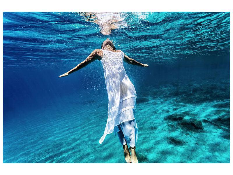 Klebeposter Schönheit unter Wasser