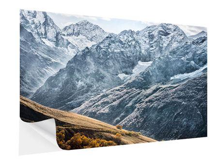 Klebeposter Gigantische Berggipfel