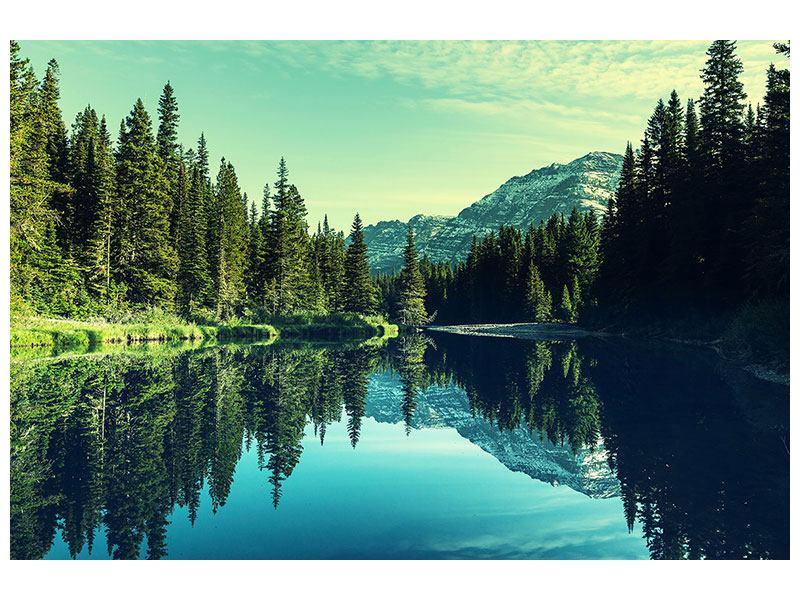 Klebeposter Die Musik der Stille in den Bergen