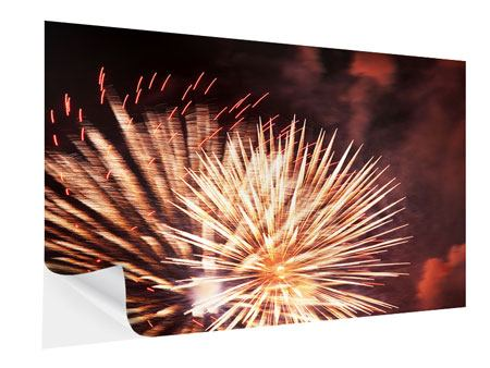 Klebeposter Close Up Feuerwerk