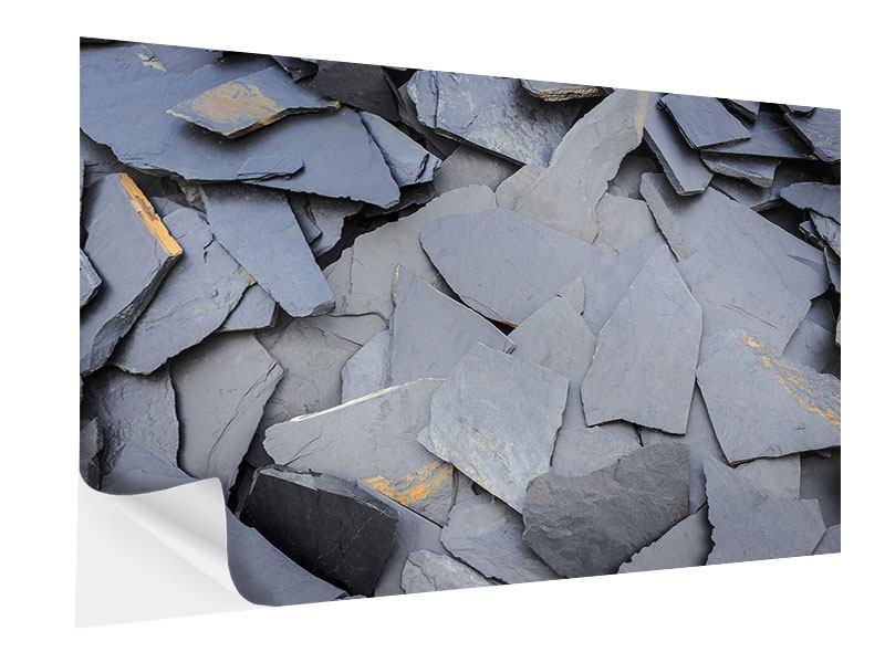 Klebeposter Schieferplatten