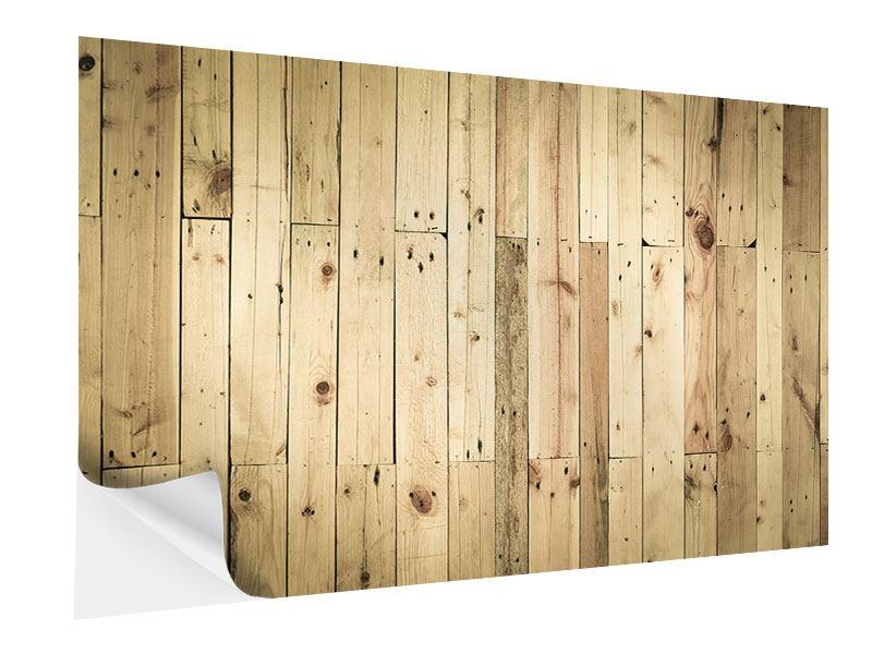 Klebeposter Holzpaneelen