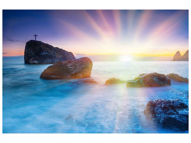Klebeposter Mystisches Meer