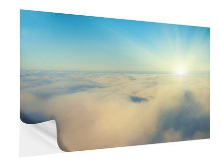 Klebeposter Dämmerung über den Wolken