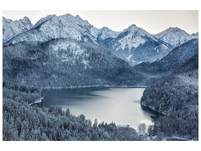 Klebeposter Schwarzweissfotografie Berge