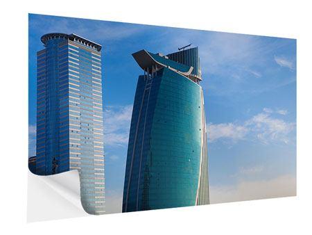 Klebeposter Zwei Wolkenkratzer