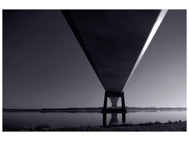 Klebeposter Die Brücke über tiefes Wasser