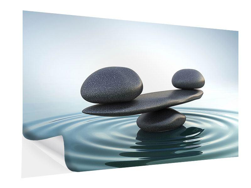 Klebeposter Steinbalance