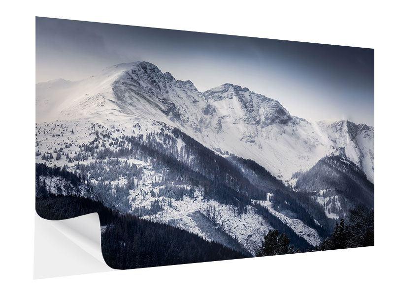 Klebeposter Die Berge der Schweiz