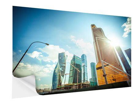 Klebeposter Wolkenkratzer Moskau