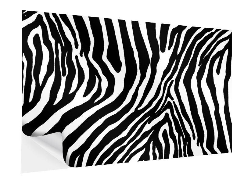 Klebeposter Zebramuster