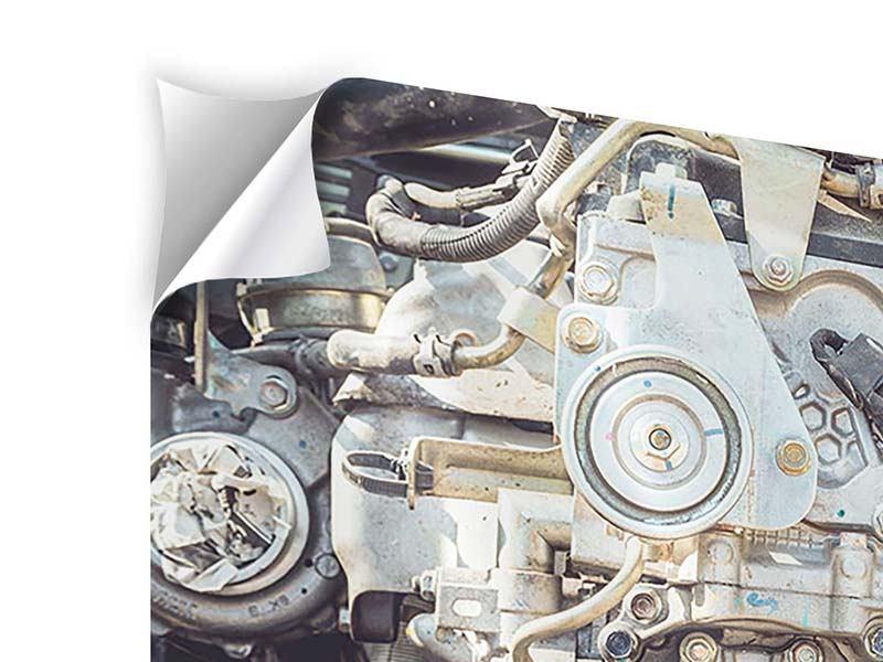 Klebeposter Motor
