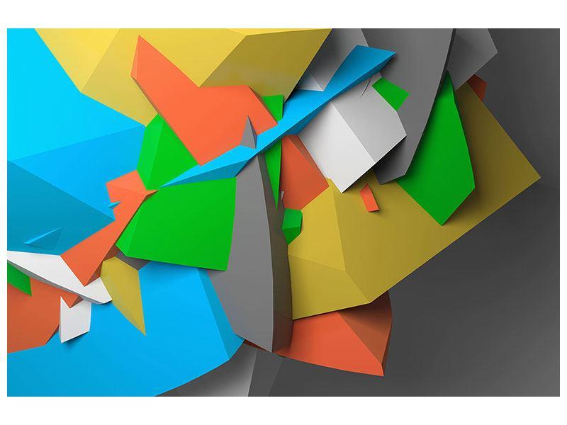 Klebeposter 3D-Geometrische Figuren