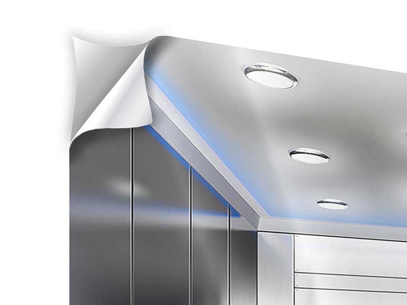 Klebeposter Eleganter Aufzug