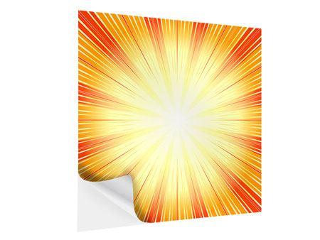 Klebeposter Abstrakte Retro Sonne