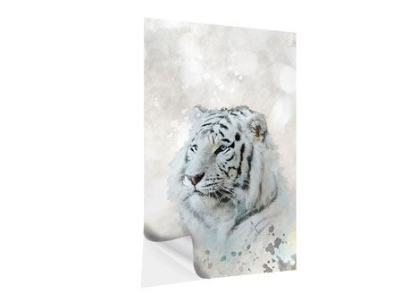 Klebeposter Tiger-Gemälde