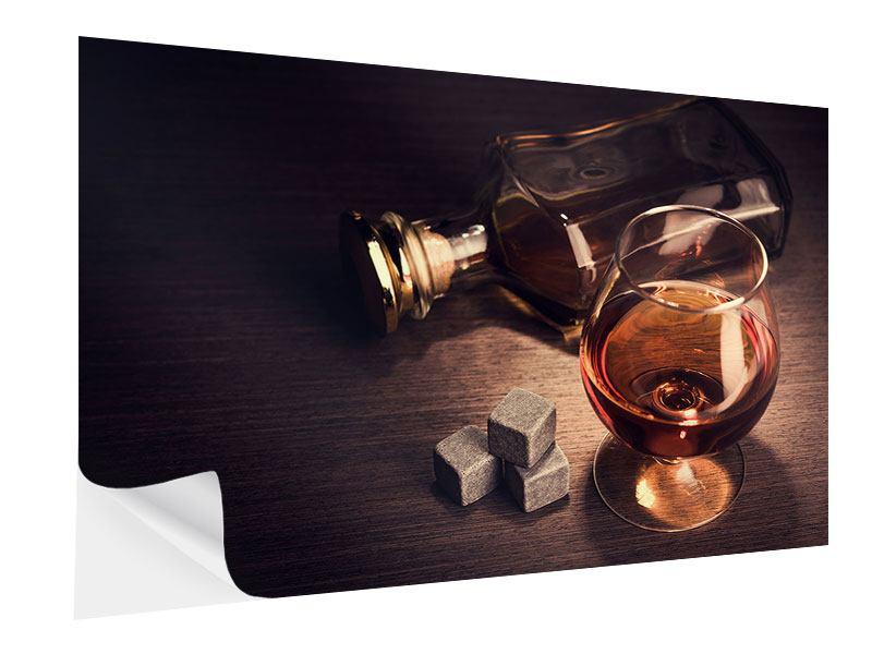 Klebeposter Ein Glas Cognac