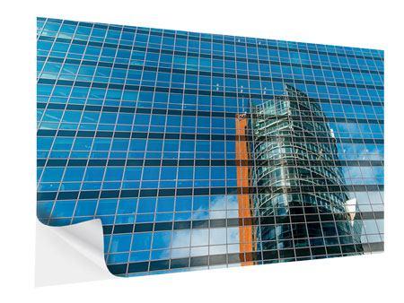 Klebeposter Wolkenkratzer-Spiegel