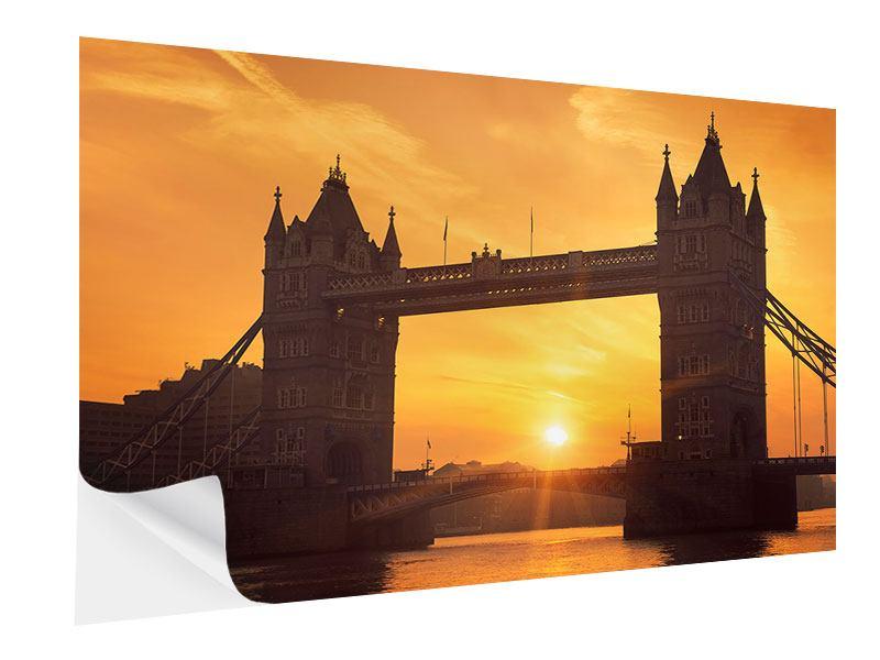 Klebeposter Sonnenuntergang bei der Tower-Bridge