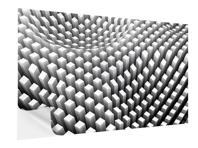Klebeposter 3D-Rasterdesign