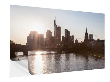 Klebeposter Skyline Sonnenaufgang bei Frankfurt am Main