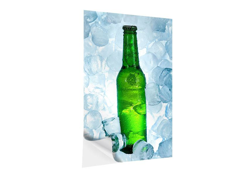 Klebeposter Eisgekühltes Bier