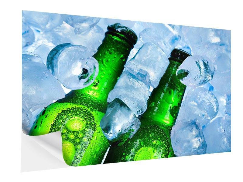Klebeposter Eisflaschen