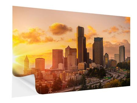 Klebeposter Skyline Washington