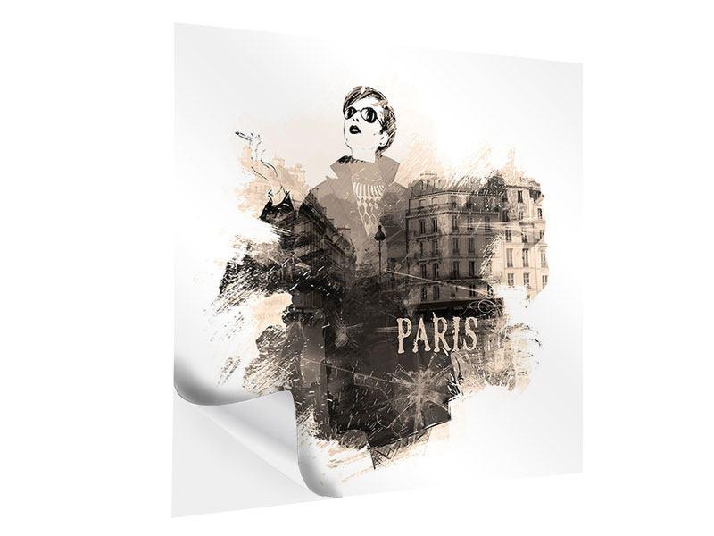 Klebeposter Pariser Modell