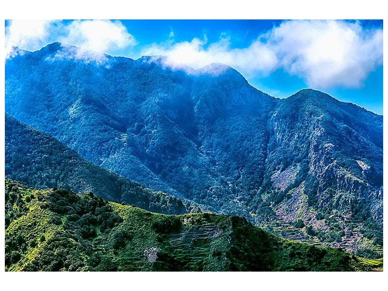 Klebeposter Die Berglandschaft