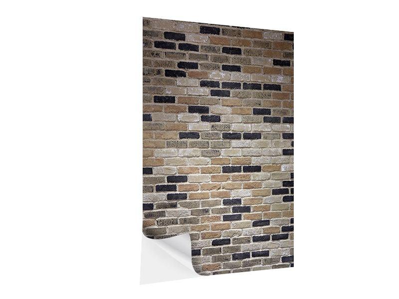 Klebeposter Backsteinmauer