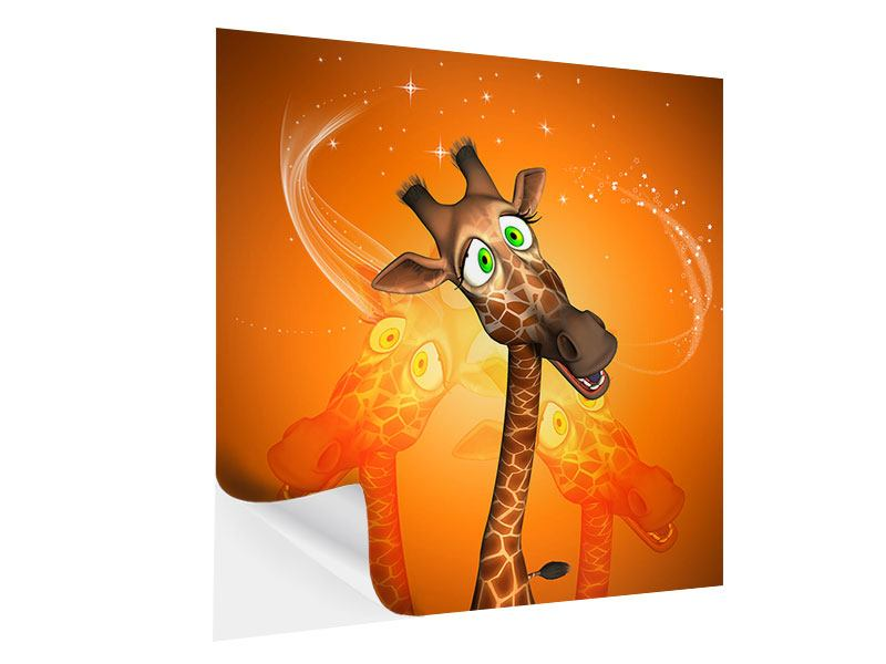 Klebeposter Giraffen Besuch