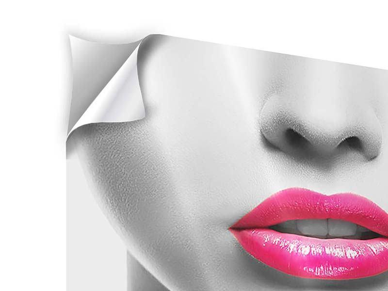 Klebeposter Rote Lippen