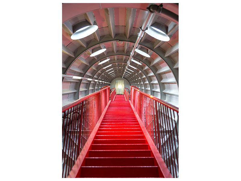 Klebeposter Futuristische Treppe