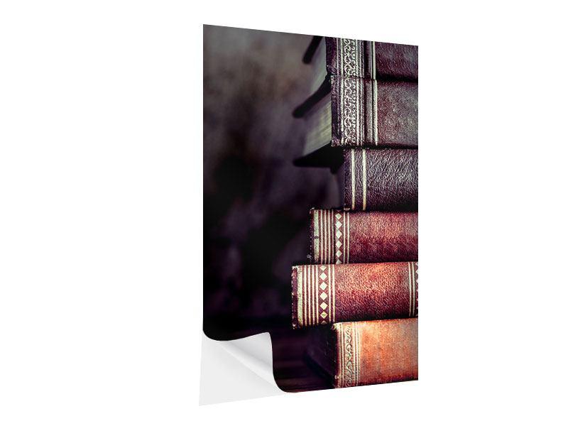 Klebeposter Antike Buchstapel