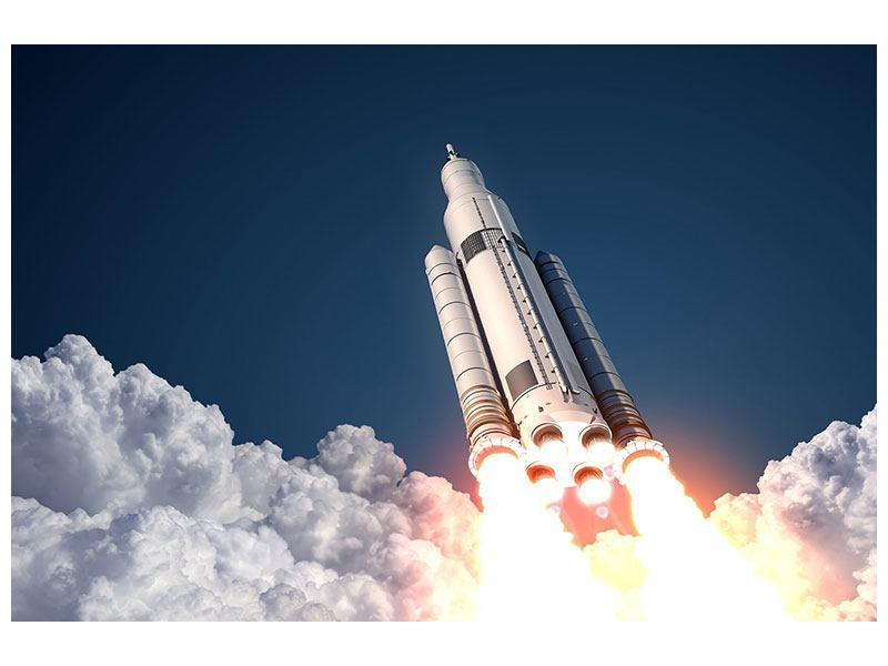 Klebeposter Raketenstart