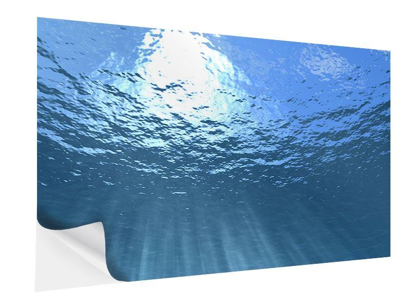 Klebeposter Sonnenstrahlen unter Wasser