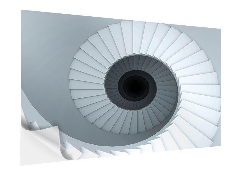 Klebeposter 3D Wendeltreppe
