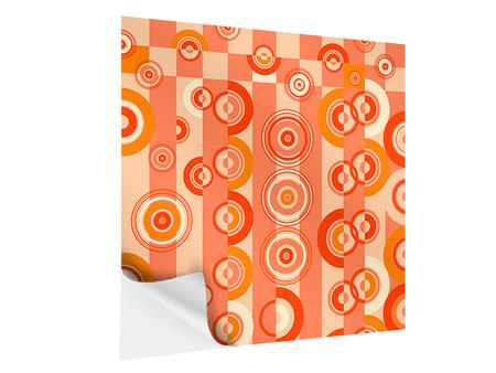 Self-Adhesive Poster Moving Retro Circles