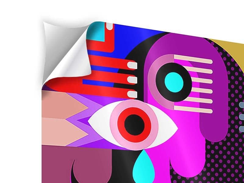 Klebeposter Moderne Kunst People