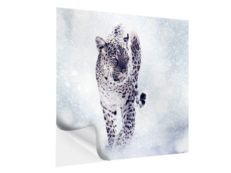 Klebeposter Der Leopard