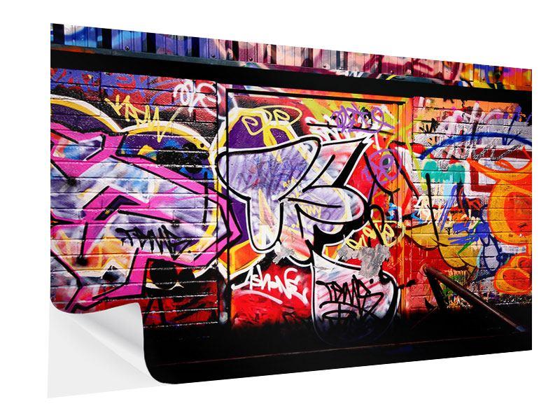 Klebeposter Graffiti Kunst