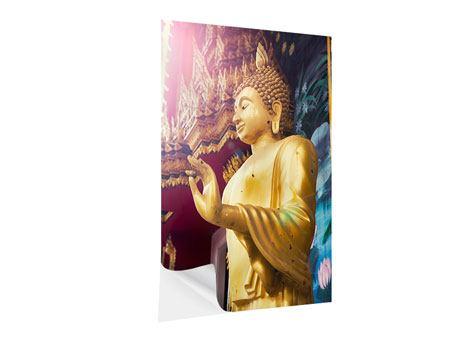 Klebeposter Buddha Skulptur