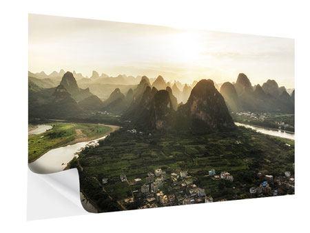 Klebeposter Die Berge von Xingping