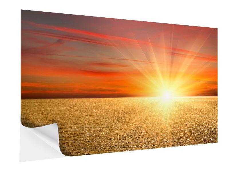 Klebeposter Der Sonnenuntergang