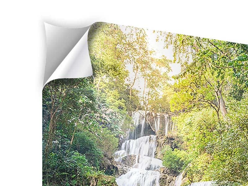 Klebeposter Berauschter Wasserfall