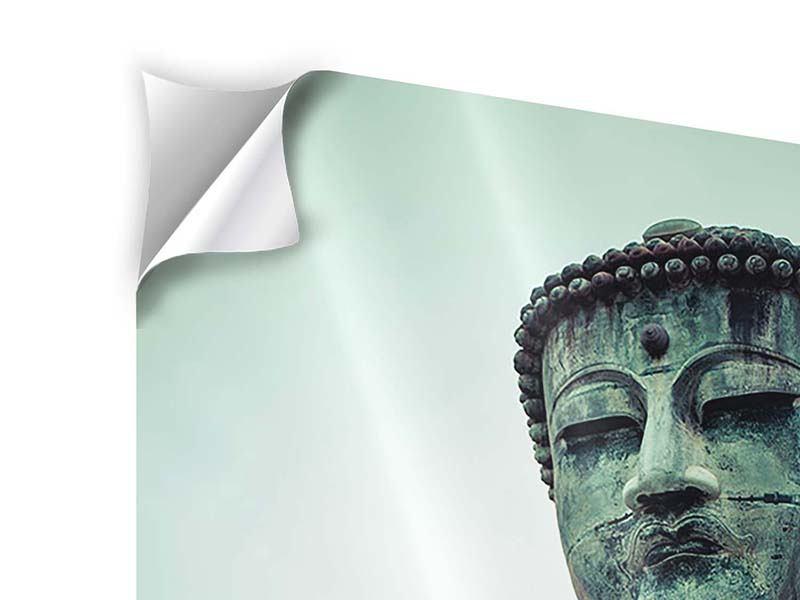 Klebeposter Meditierender Buddha