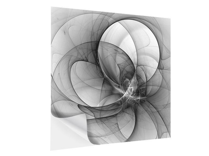 Klebeposter Abstrakte Kreisende Kreise