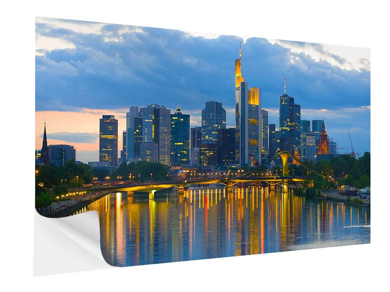 Klebeposter Skyline Frankfurt am Main