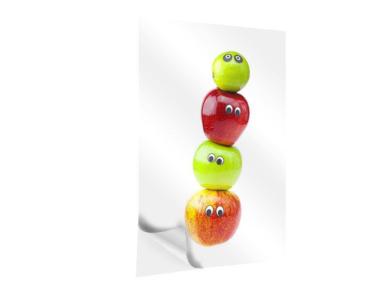 Klebeposter Lustiges Obst